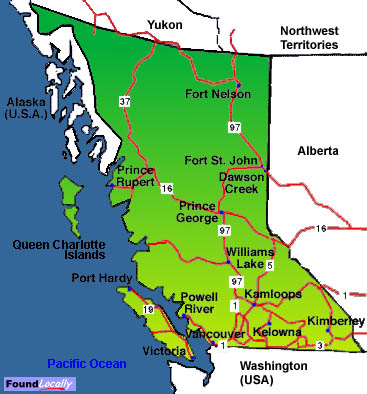 A History Of British Columbia - British columbia canada map