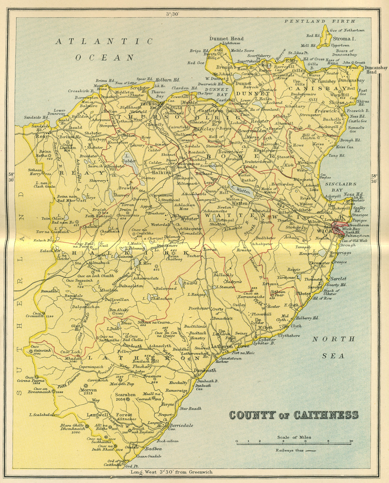 Caithness cws links maps old map of caithness gumiabroncs Choice Image