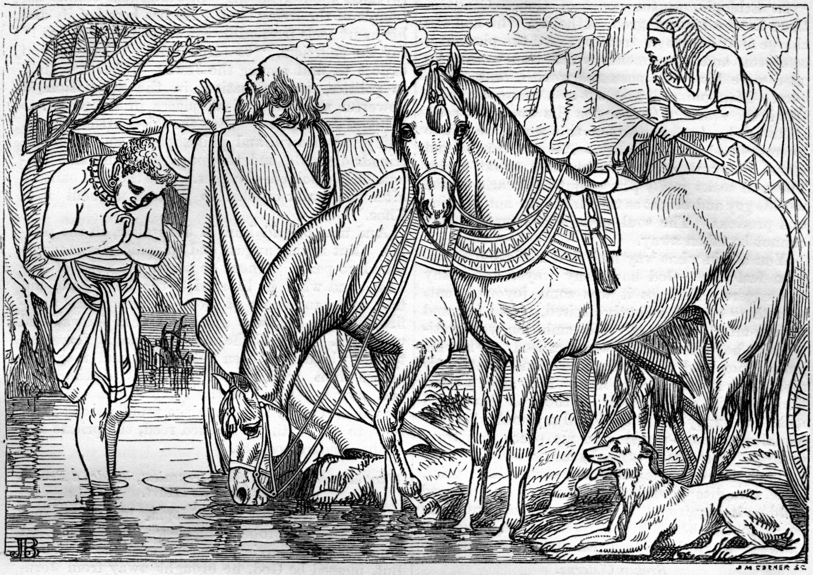 Phillip and the ethiopian free coloring pages for Ethiopian eunuch coloring page