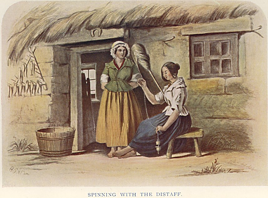 Mcians highlanders at home spinning with the distaff spinning with the distaff sciox Gallery