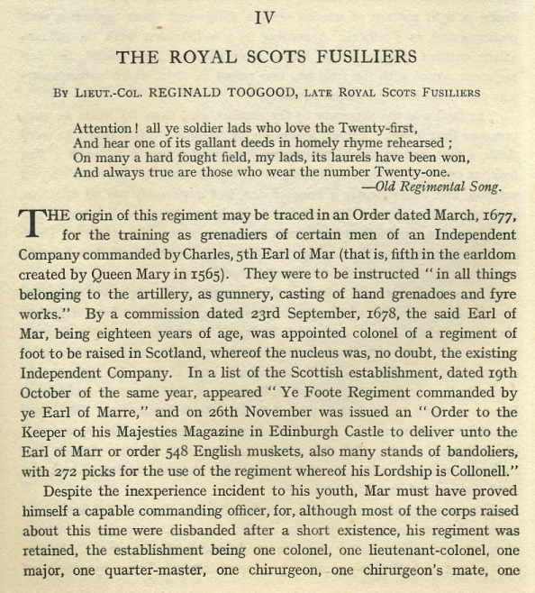The Lowland Scots Regiments - The Royal Scots Fusiliers