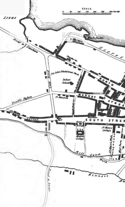 Map of St Andrews 1849 left