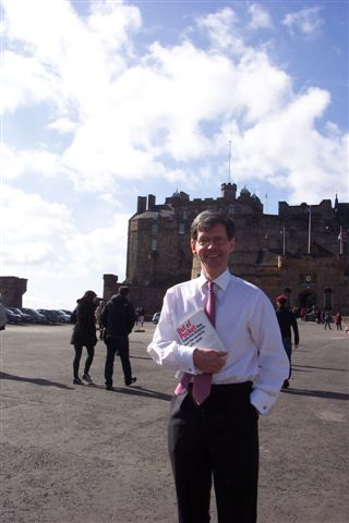 Clark McGinn at the Edinburgh Castle