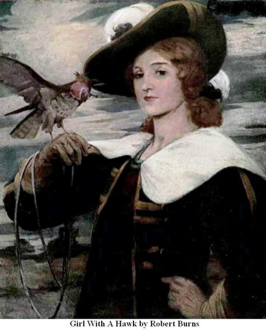 Girl with a Hawk. By Robert Burns
