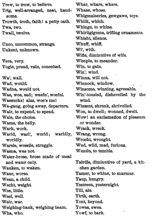 glossary of scots words