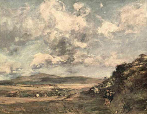Clouds moving over a Moor