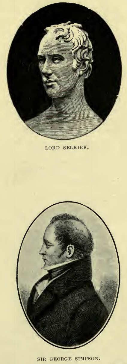 Lord Selkirk and Sir George Simpson