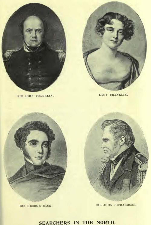 Sir John Franklin and Lady Franklin, Sir George Back, Sir John Richardson