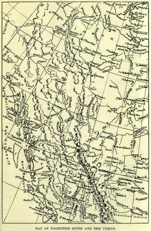 Map of MacKenzie River and the Yukon