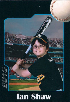 Ian's current baseball card