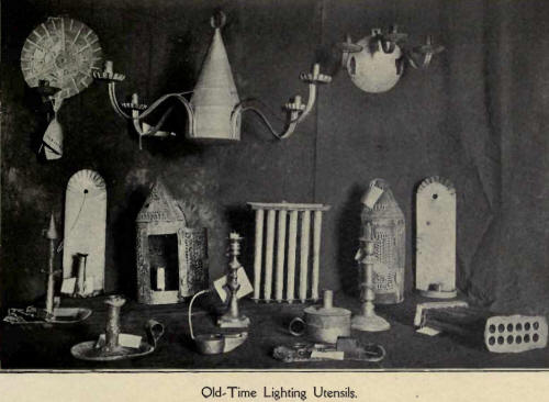 Old time lighting utensils