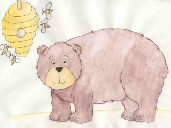 Bears like honey, but not bees!
