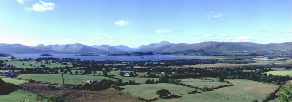Loch Lomond looking north.The west bank home of Clan Colquhoun & Clan MacFarlane.The east bank the home of Clan Buchanan.