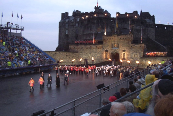 Opening ceremonies, Scotland Military Tattoo, Edinburgh Castle, August 2002