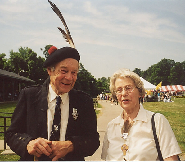 George MacMillan, Chief of Clan MacMillan, and his wife Jane.